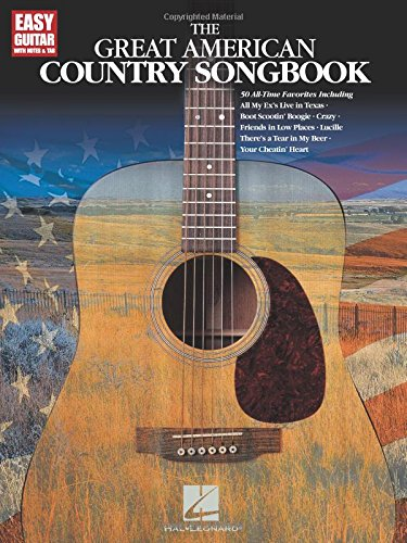 Guitar Songbook Blues Tab - The Great American Country Songbook (Easy Guitar with Notes & Tab)