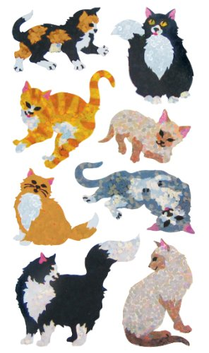Jillson Roberts Prismatic Stickers, Cats & Kittens, Bulk Continuous Roll (BS7307) (Honor Roll Stickers)