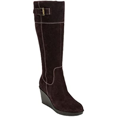 978b7329e85 Cole Haan Men's Air Tali TA Knee-High Boot, Dark Chocolate Suede, 11