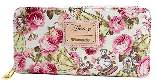 Loungefly Disney Beauty & The Beast Belle Mrs. Potts Pink Peony Floral Wallet - Pink Floral Wallet