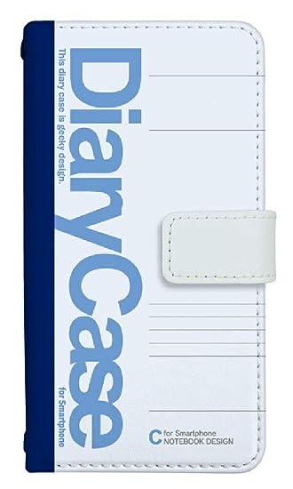 78b2190467 スマホケース 手帳型 IPHONEXR ケース 8036-B. 大学ノートブルー IPHONE XR アイフォンXR