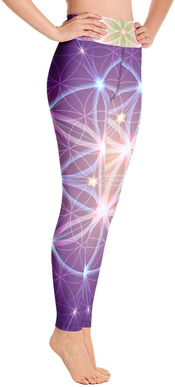 yoga sacred geometry ombre leggings Mystic Purple Ombre Flower of life print Yoga leggings purple leggings active wear yoga wear