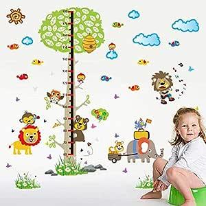 ملصقات حائط على شكل حيوانات كرنفال كرتون ارتفاع غرفة النوم غرفة المعيشة ديكور ملصقات الحائط