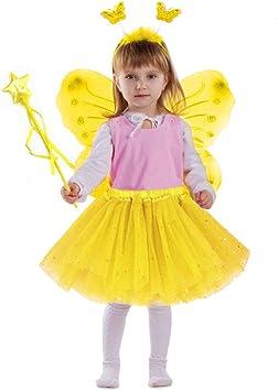 EQLEF Disfraz de Hadas para niños, alas de tutú Conjunto de alas ...
