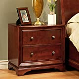 Abbyson Living Berkton 2 Drawer Wood Nightstand in Walnut