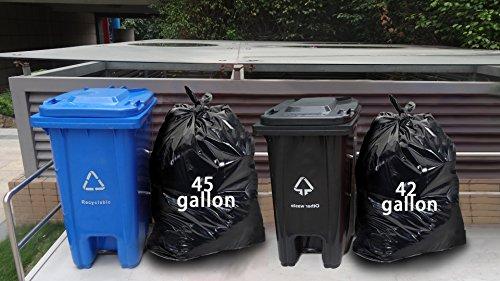 [해외]Nicesh 42 갤런 잔디 및 잎 쓰레기 봉투, 검은 색, 66 점/Nicesh 42 Gallon Lawn and Leaf Garbage bags, Black, 66 Counts