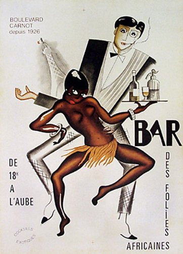 Art Deco Vintage Advertising Poster Reproduction Josephine Baker African-American jazz