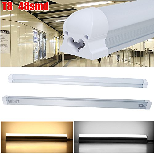 Excellent Integrated T8 9W LED Tube Lamps Lights Day White 0.6m/2Ft (Pack 0f 10)