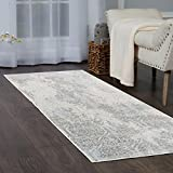 Home Dynamix Christian Siriano Brooksville Cambridge Runner Area Rug 2'2'' x6'9, Neutral Damask Ivory/Gray