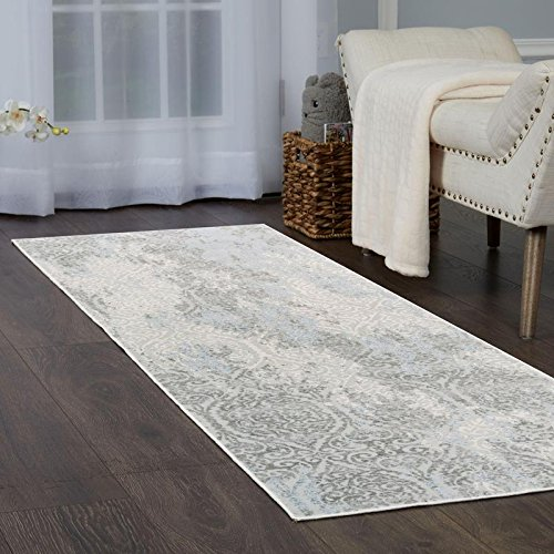 Home Dynamix Christian Siriano Brooksville Cambridge Runner Area Rug 2'2'' x6'9, Neutral Damask Ivory/Gray by Home Dynamix