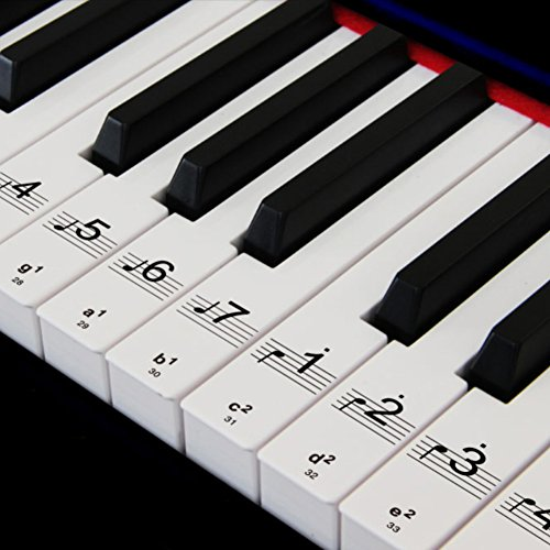 Piano Stickers for 49/61/76/88 Key Keyboards, Removable Pian