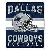 The Northwest Company NFL Dallas Cowboys Singular 50-inch by 60-inch Printed Fleece Throw