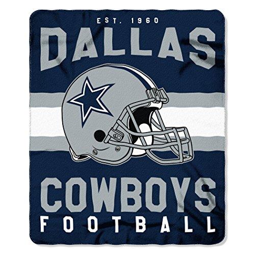y NFL Dallas Cowboys Singular Fleece Throw, 50-inch by 60-inch, Blue ()