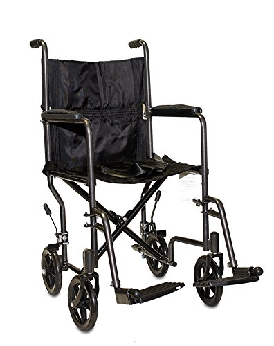 Economy Steel Transport Chair Seat Size: 19