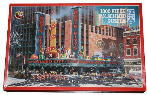 F.X. Schmid 1000 Piece Puzzle Christmas at at at Radio City Music Hall Featuring the Rockettes by F.X. Schmid c845ec