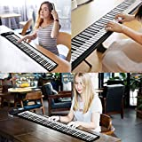 BABY JOY 88 Keys Roll Up Piano, Upgraded Electronic Piano Keyboard, Portable Piano w/Bluetooth, MP3 Headphone USB Input, MIDI OUT, 128 Rhythms, Record, Play, Volume Control