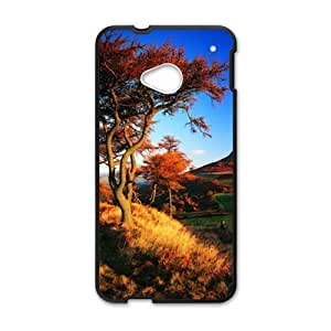 Personalized Clear Phone Case For HTC M7,attractive autumn trees