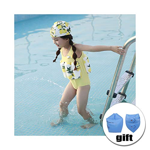 - FORNY Kids Swim Vest Life Jacket Floatation Swimsuits One-Piece Buoyancy Swimwear (Yellow Fruits, L)
