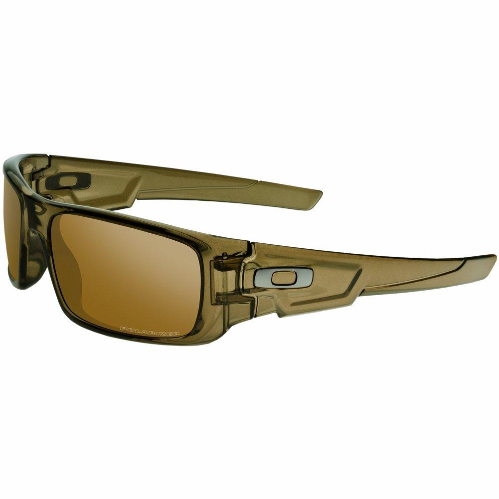 Oakley Men's Crankshaft 0OO9239 Polarized Iridium Rectangular Sunglasses, BROWN SMOKE, 60mm