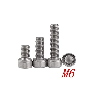 20 tornillos hexagonales M6 DIN912 304 de acero inoxidable ...
