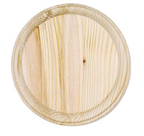 Darice 9179-57 Wooden Round Plaque, 4-Inch