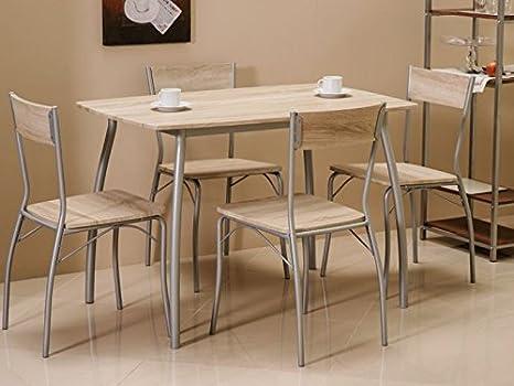 Sedie Per Sala Da Pranzo : Jadella modus set di tavolo e 4 sedie per sala da pranzo in