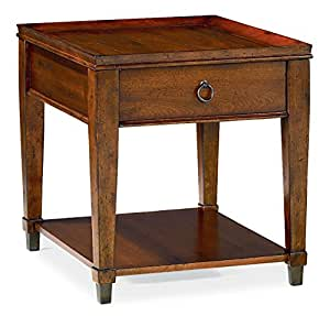 Hammary End Table in Rich Mahogany Finish