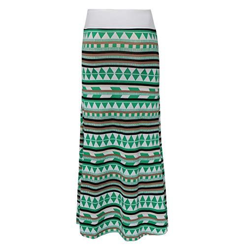 Longue Trapze Jupe Vert Taille Haute Crayon Yixiudz a Jupe Femmes Boheme Longue Maxi w85AqXZq
