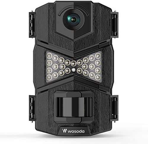 WOSODA Trail Camera, 16MP 1080P Hunting Game Camera, Wildlife Camera with Upgraded 850nm IR LEDs Night Vision 260ft, 2.0 LCD for Home Security Wildlife Monitoring Hunting