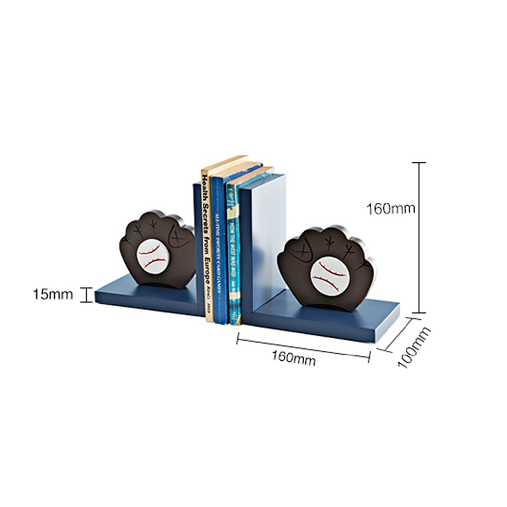 Bookends bookshelves wooden bookcase bookends boy room books storage rack (Color : Blue) by None (Image #7)