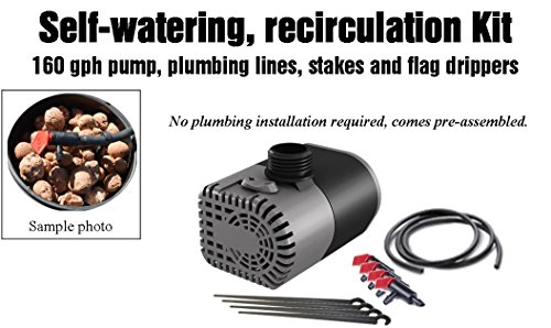 51VMAa8K2gL - Complete Hydroponic system DWC SELF-WATERING Bubbler Kit # 3-4 H2OtoGro