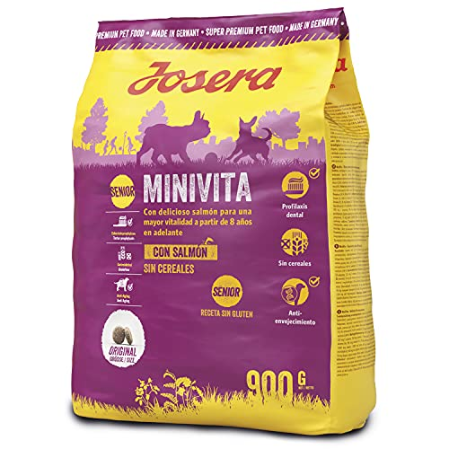 JOSERA MiniVita (1 x 900 g) | Hundefutter für kleine Rassen ab dem 8. Lebensjahr | Super Premium Trockenfutter für…