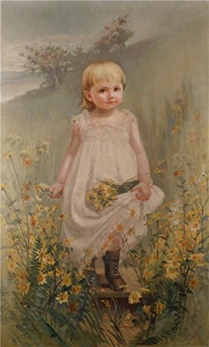 Oil Painting 'Amanda Petronella Austin,The Artist's Niece, Miss Mary Christine Austin,1887-1888' Printing On Perfect Effect Canvas , 24x40 Inch / 61x101 Cm ,the Best Powder Room Decoration And Home Decoration And Gifts Is This High Definition Art Decorative Canvas (70s Roller Girl Costume)