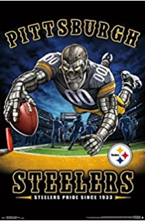 fc07ff1d32e Trends International Wall Poster Pittsburgh Steelers End Zone 22.375