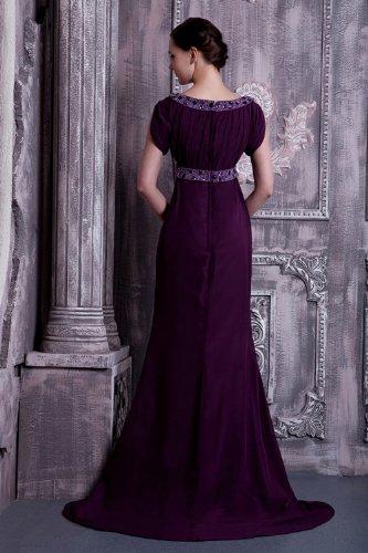 GEORGE mit Formale verziert Zeitlos Abendkleid Lange BRIDE Perlen Lila lila YxYw5UqSr