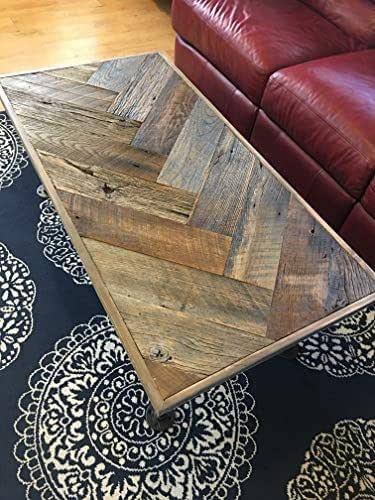 Amazon.com: Reclaimed Barn Wood Herringbone Industrial Coffee Table: Handmade