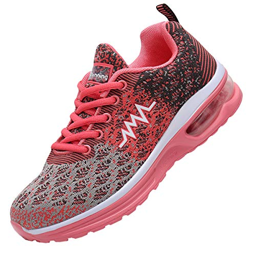 JARLIF Women's Air Running Tennis Shoes Lightweight Cross Trainers Workout Sport Gym Athletic Sneakers Pink 9.5 B(M) US