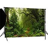 DULUDA 7X5ft Jungle Forest Vinyl Photography Backdrop Customized Photo Background Studio Prop TG04
