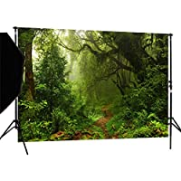 DULUDA 7X5ft Jungle Forest Vinyl Photography Backdrop Customized Photo Background Studio Prop TG04