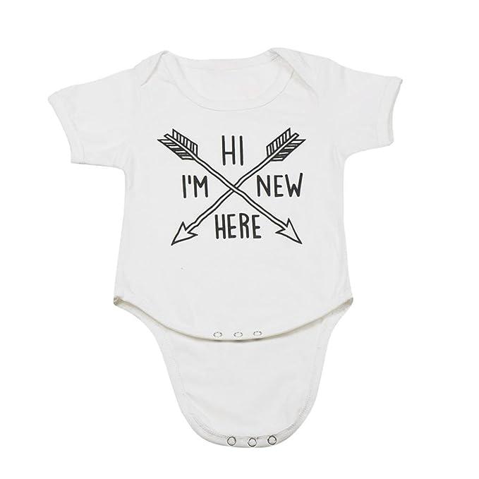 gbsell recién nacido bebé Niños Niñas flecha patrón Pelele Mono: Amazon.es: Ropa y accesorios