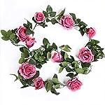 Artificial-Flowers-10-Heads-Artificial-Rose-Flower-Vines-Wedding-Party-Decor-Hanging-Garland-Silk-Fresh-Flower-Artificial-Rattan-Home-GardenChampagne