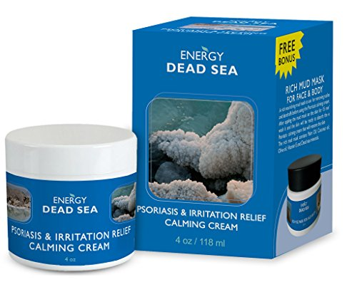 Calming Psoriasis Cream Set - Energy Dead Sea Treatment Cream for Eczema Rosacea Dermatitis - Special Blend of Herbs and Vitamins - Fast Instant Relief to Itchy Rashed and Irritated Skin (Treatment Sea Psoriasis Dead)