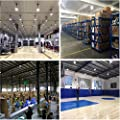 LED High Bay Light Fixture 240W UFO High Bay Lighting 5000K 34000LM 1-10 Dimmable IP65 Waterproof with 6FT U.S. Standard Cable, Widely Used in Warehouse