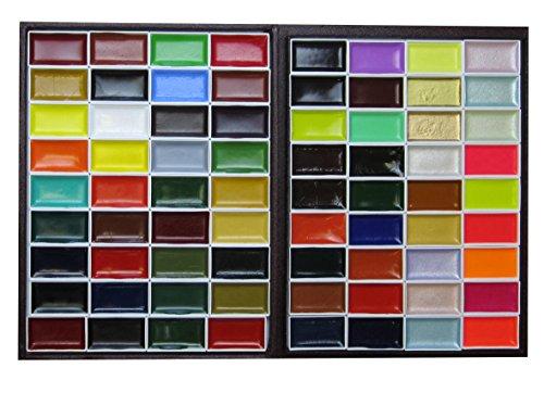 Japanese Watercolor (KISSHO GANSAI Japanese Watercolor Paint 72 Colors Set)