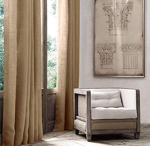 AK-Trading Burlap Drape Panel 2pc Set Backdrop 100% Jute Curtain 5ft x 8ft (60