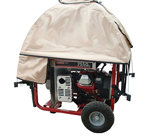 GenTent Running Cover -Universal Kit - Extreme Edition - 3000w-10000w Portable Generators - … (Tan Light) by GenTent Safety Canopies