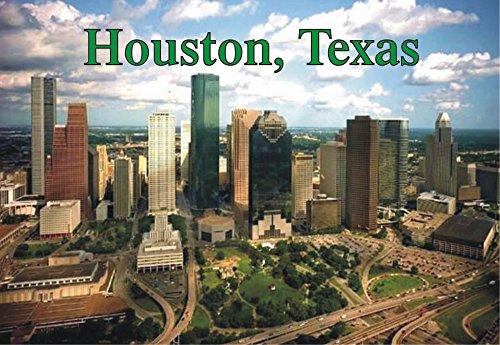 Skyline of Houston, Texas, TX, City, Souvenir Magnet 2 x 3 Fridge Photo - Houston Airport Pictures
