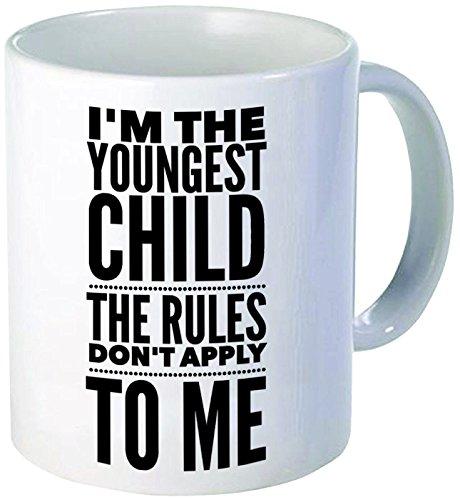 Funny Mug - I'm The Youngest Child The Rules Don't Apply To Me Mug Tea Cup - 11 OZ Coffee Mugs - 15 OZ Coffee Mug - Funny Inspirational Sarcasm Sarcas]()