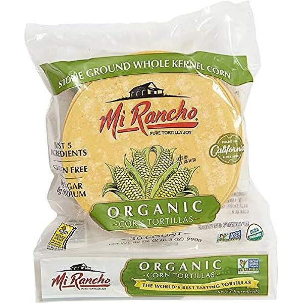 Mi Rancho Organic Yellow Corn Tortilla 30 Ct Ou Kosher Certified Non Gmo Verified 2 Amazon Com Grocery Gourmet Food