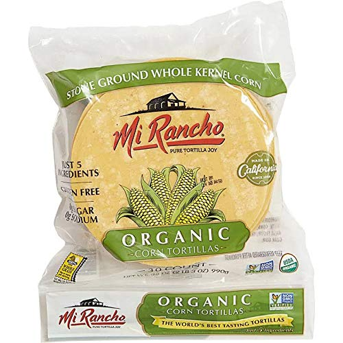 Mi Rancho Organic Yellow Corn Tortilla, 30 ct OU Kosher Certified NON GMO Verified ()